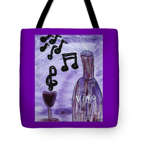 Music In My Glass Tote Bag