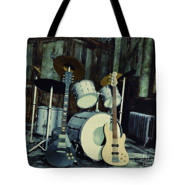 Music Is Everywhere Tote Bag by Jutta Maria Pusl