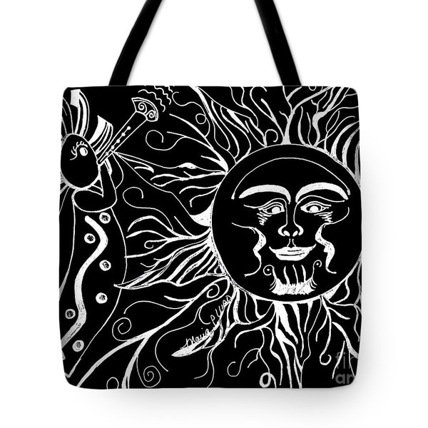 Musical Sunrise - Inverted Tote Bag by Maria Urso