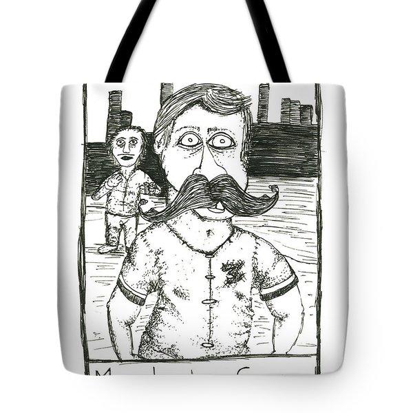 Mustache Envy Tote Bag by Michael Mooney