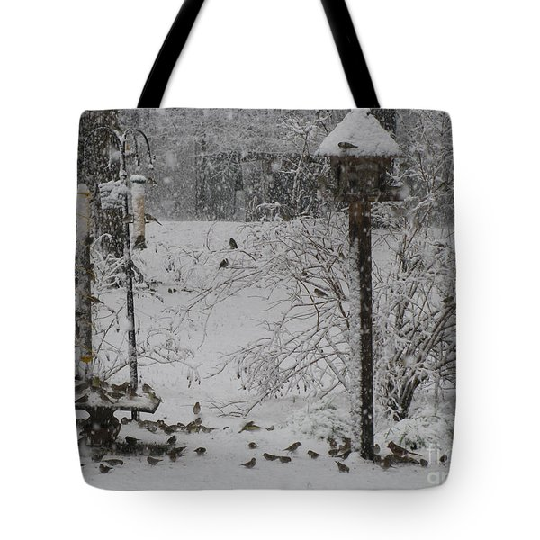 Tote Bag featuring the photograph My Backyard by Donna Brown