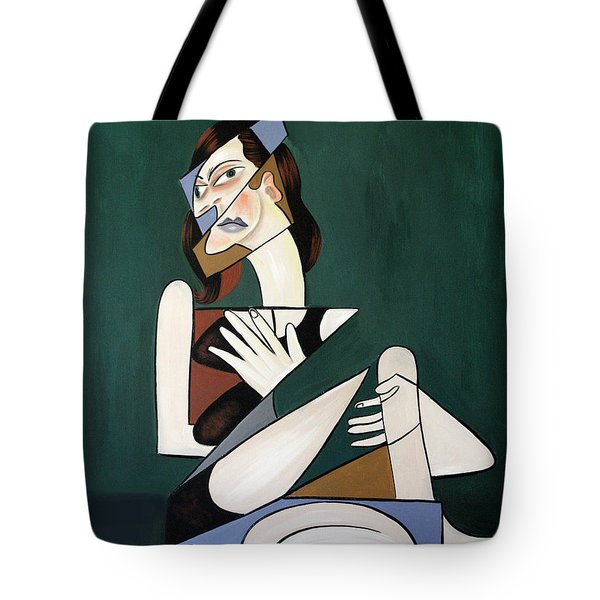 Tote Bag featuring the painting My Broken Heart by Anthony Falbo