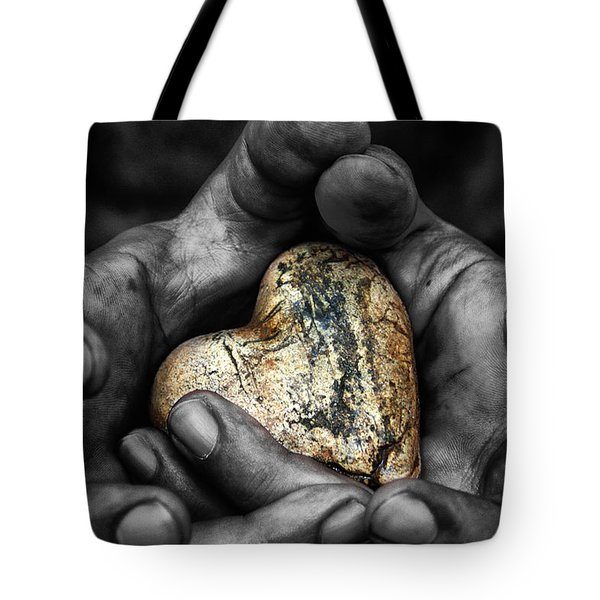 My Hands Your Hard Tote Bag by Stelios Kleanthous