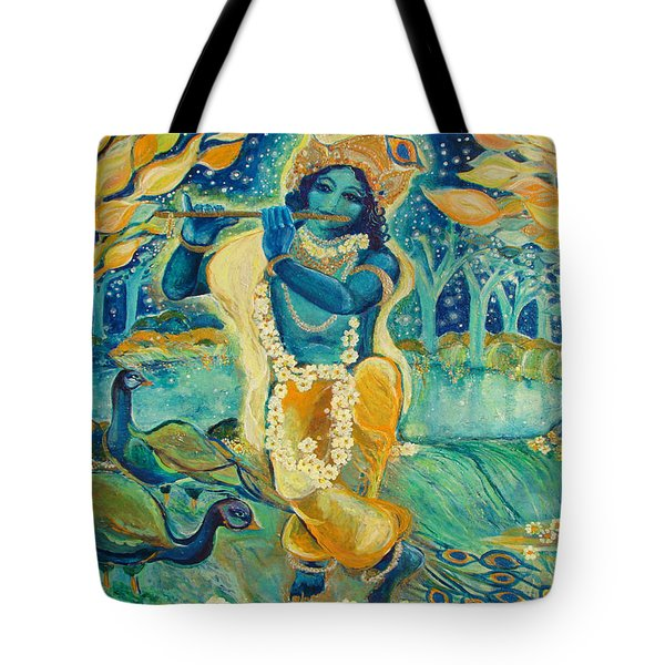 My Krishna Is Blue Tote Bag by Ashleigh Dyan Bayer
