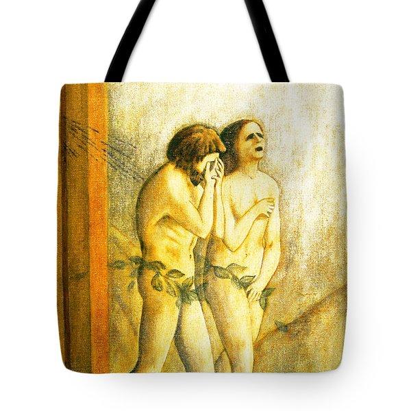 My Masaccio Expulsion Of Adam And Eve Tote Bag by Jerome Stumphauzer