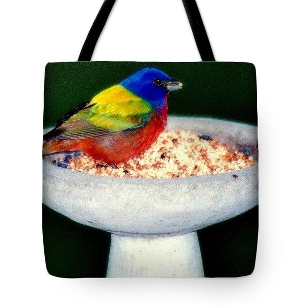 My Painted Bunting Tote Bag by Karen Wiles