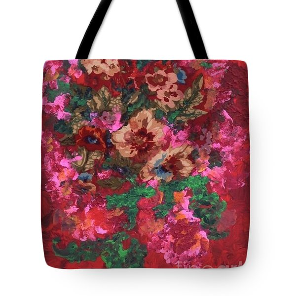 Tote Bag featuring the painting My Sister's Garden I by Alys Caviness-Gober