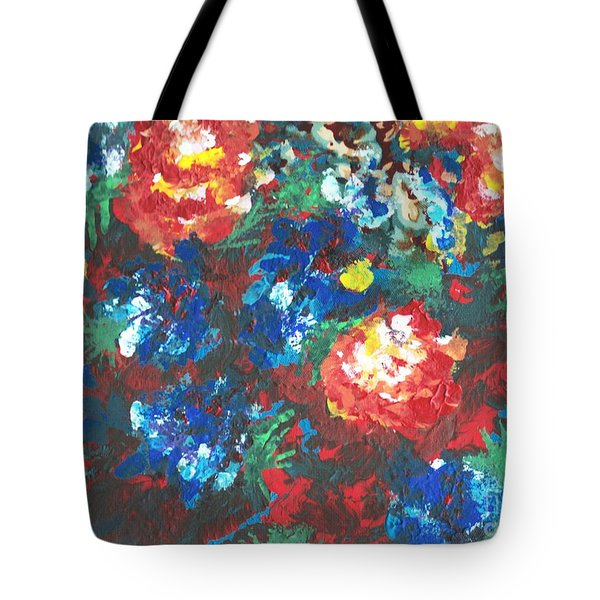 Tote Bag featuring the painting My Sister's Garden II by Alys Caviness-Gober