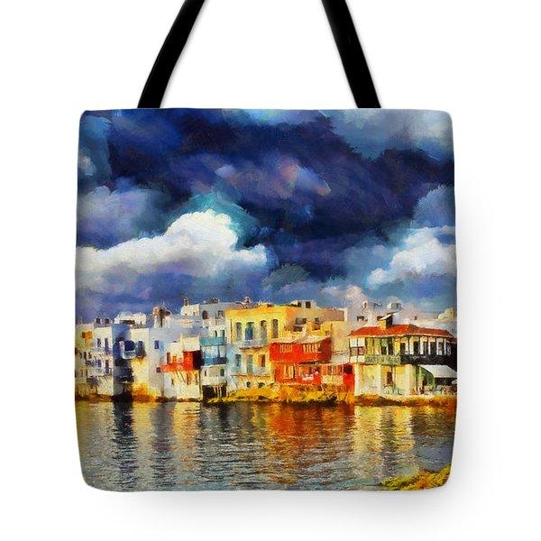 Myconos Clasic Tote Bag by George Rossidis