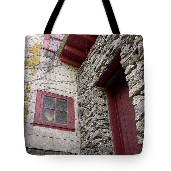 Mystery Of The Red Door Tote Bag by Sandi OReilly