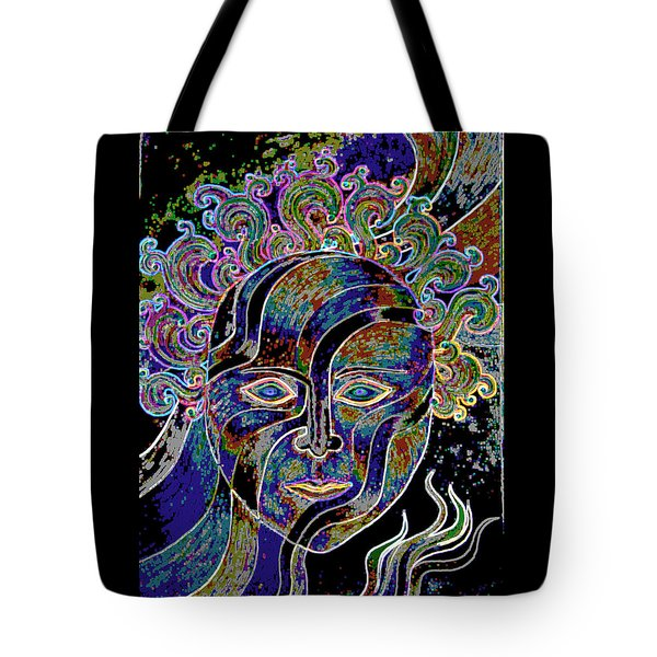 Mythic Mask Tote Bag by Nareeta Martin