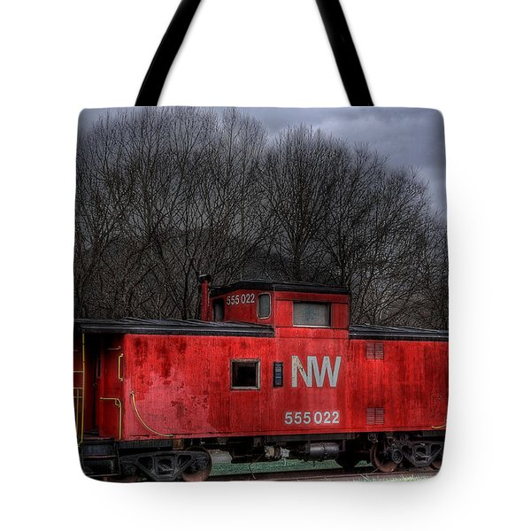 N W Caboose Tote Bag by Todd Hostetter