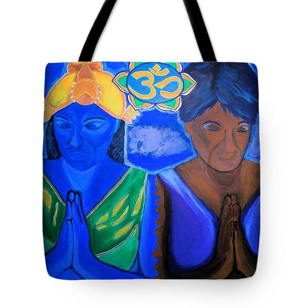Namaste-we Are One Tote Bag by Lisa Brandel