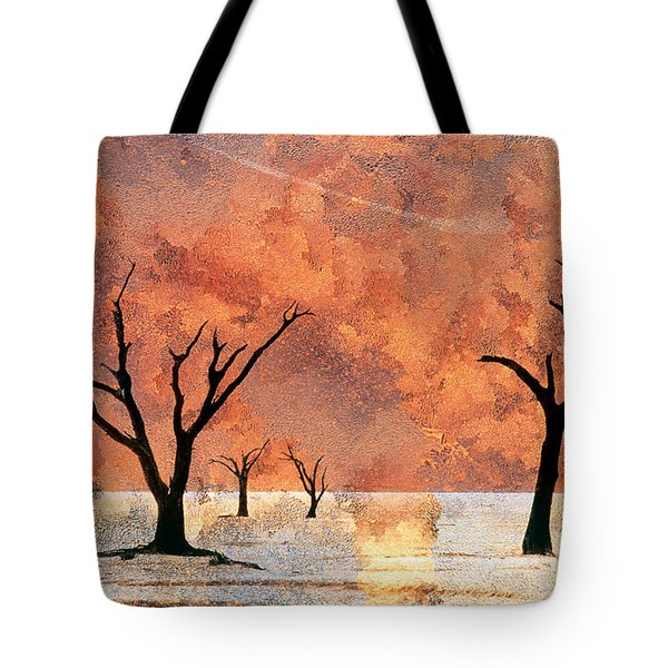 Nambia Desert Trees Tote Bag by Darwin Wiggett