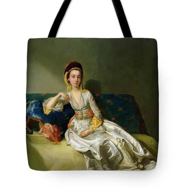 Nancy Parsons In Turkish Dress Tote Bag by George Willison
