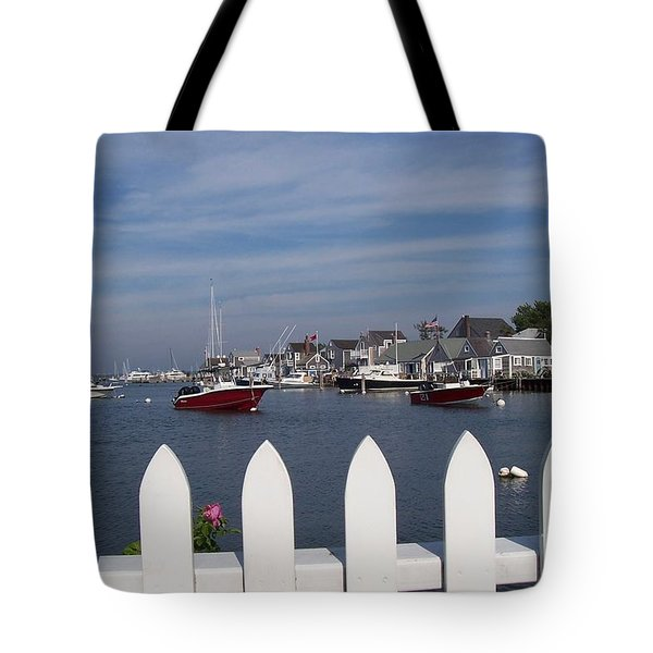 Nantucket Harbor Tote Bag