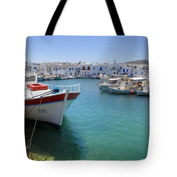 Naoussa - Paros Tote Bag by Joana Kruse