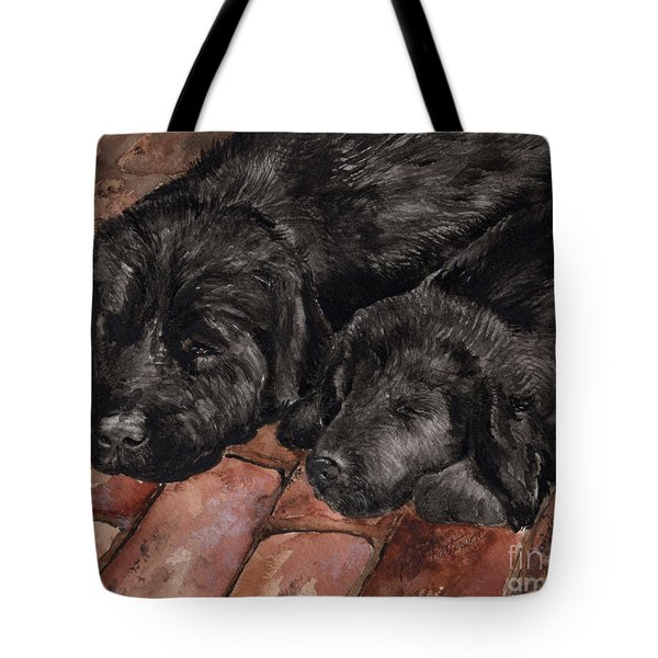 Tote Bag featuring the painting Nap Time by Nancy Patterson