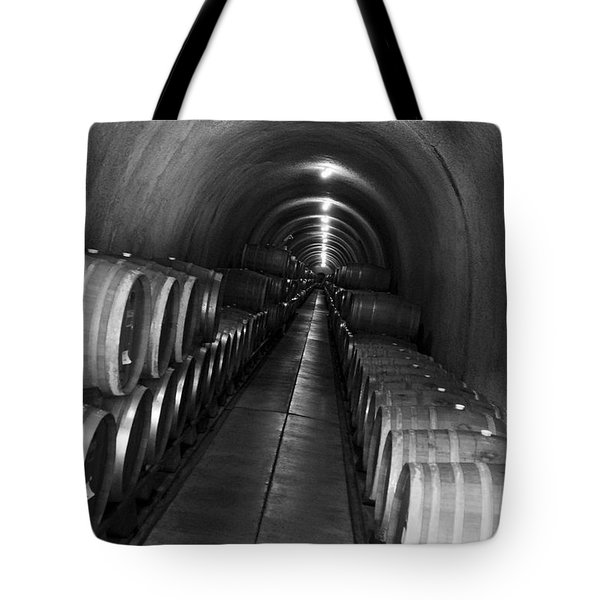 Napa Wine Barrels In Cellar Tote Bag