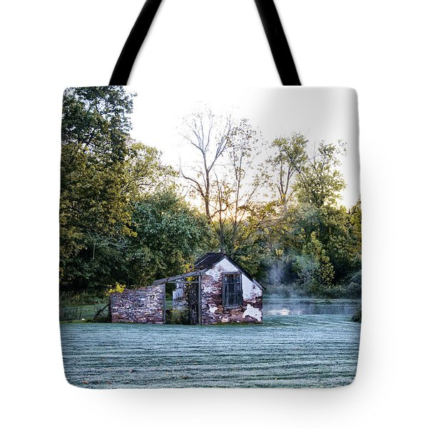 Narcissa Springhouse In Fall Tote Bag by Bill Cannon
