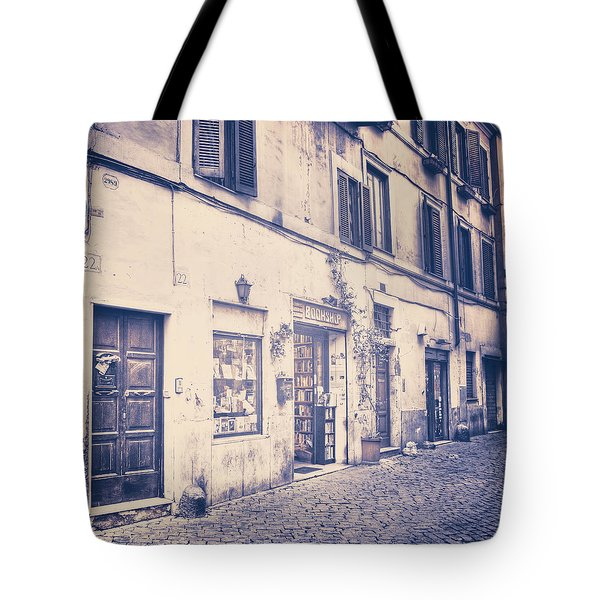 narrow street in Rome Tote Bag by Joana Kruse