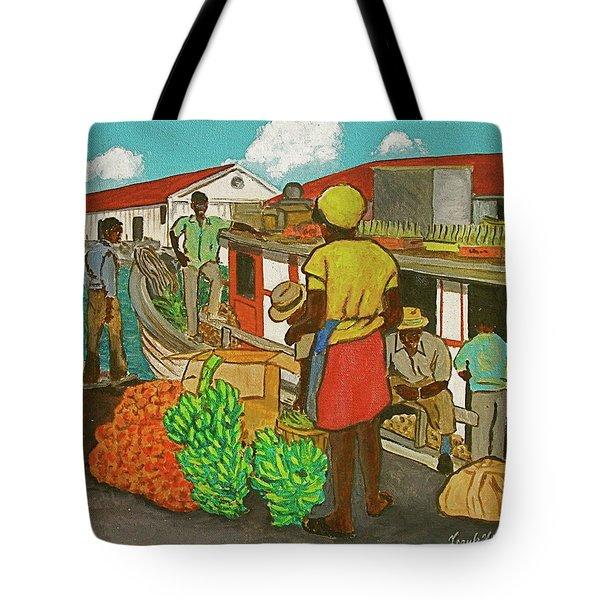 Nassau Fruit Boat Tote Bag by Frank Hunter