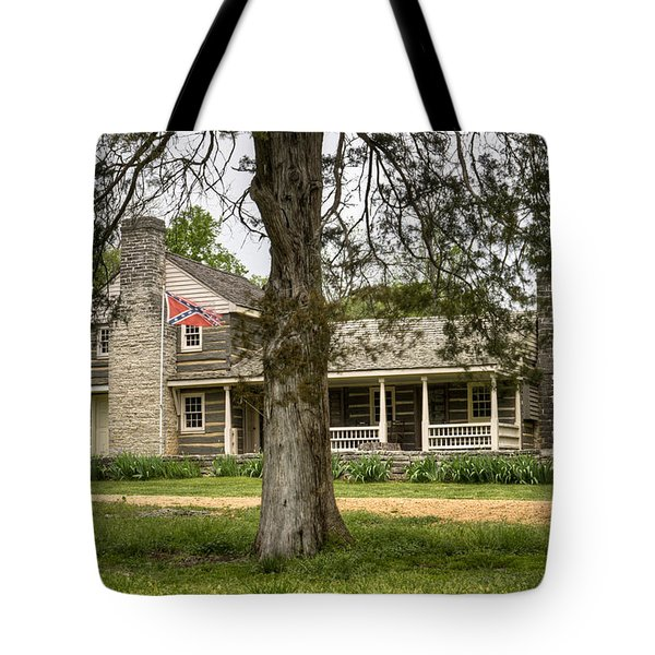 Nathan Bedford Forrest Boyhood Home 4 Tote Bag by Douglas Barnett