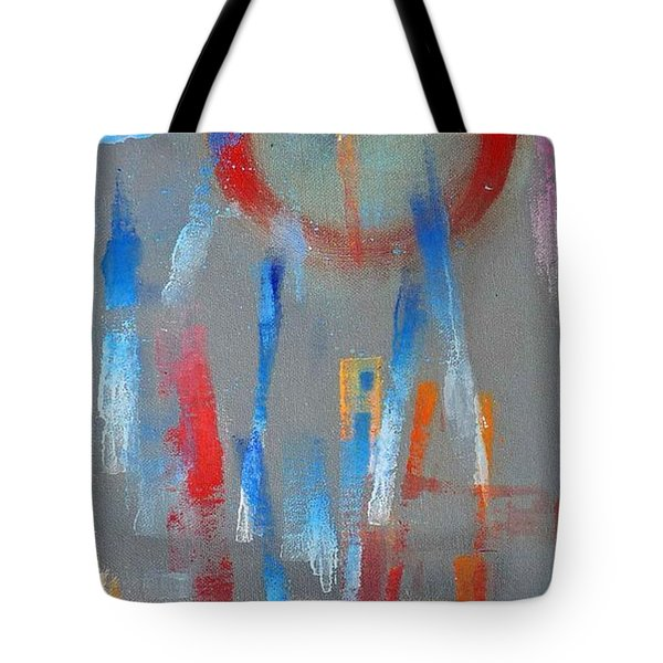 Native American Abstract Tote Bag by Charles Stuart