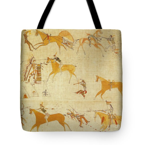 Native American Art Tote Bag by Photo Researchers