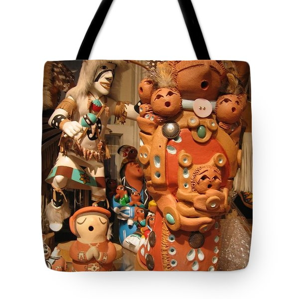 Tote Bag featuring the photograph Native  American Folk Art by Dora Sofia Caputo Photographic Art and Design