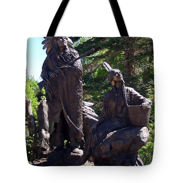 Native American Statue Tote Bag by Chalet Roome-Rigdon
