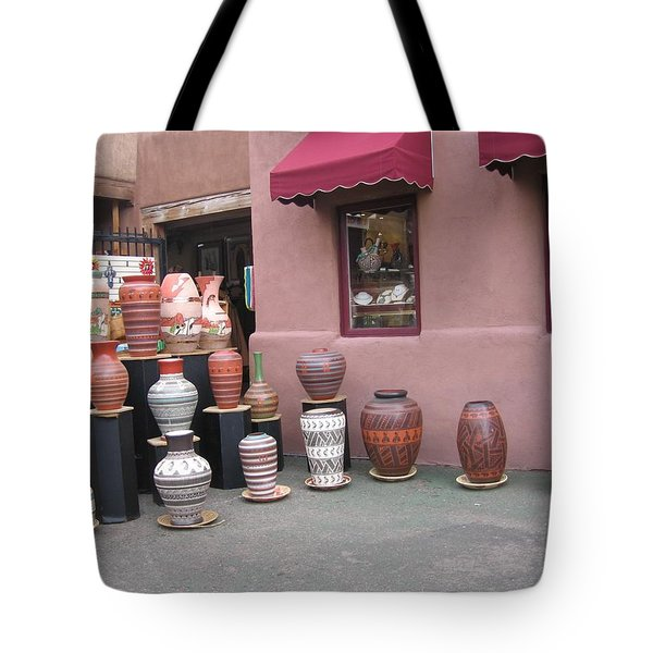 Tote Bag featuring the photograph Native Jars And Vases Market by Dora Sofia Caputo Photographic Art and Design