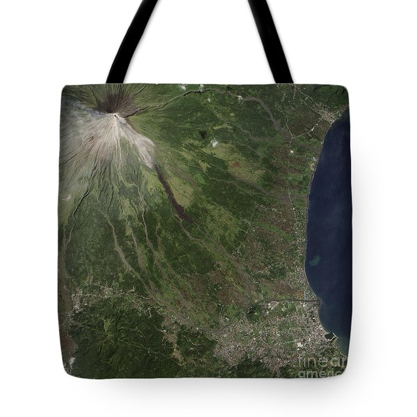 Natural-color Image Of The Mayon Tote Bag by Stocktrek Images