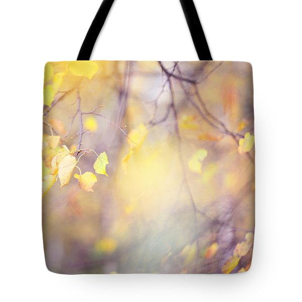 Natural Watercolor Of Autumn Tote Bag by Jenny Rainbow