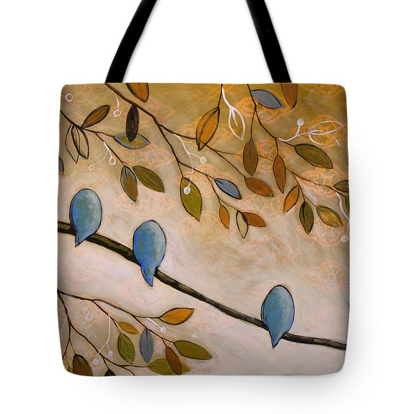 Nature Birds Painting...peaceful Garden Tote Bag