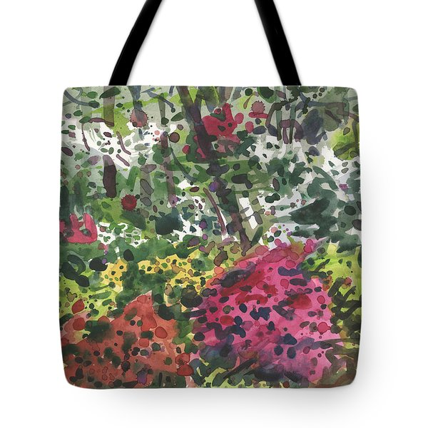 Tote Bag featuring the painting Nature's Chaos by Donald Maier
