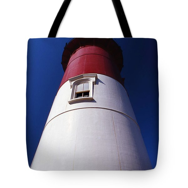 Nauset Beach Lighthouse Tote Bag by Skip Willits