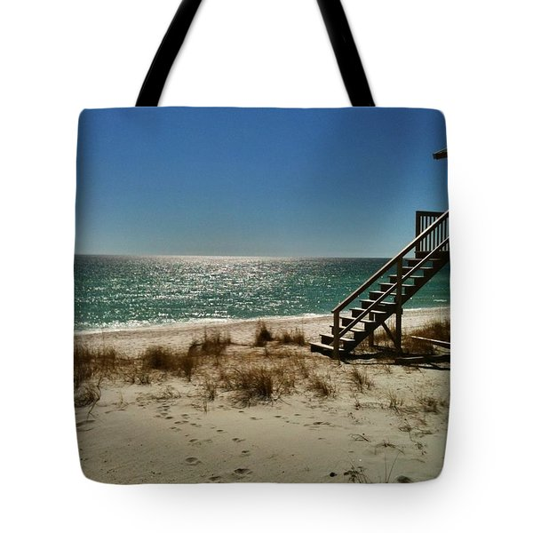 Navarre Beach Tote Bag by Janice Spivey