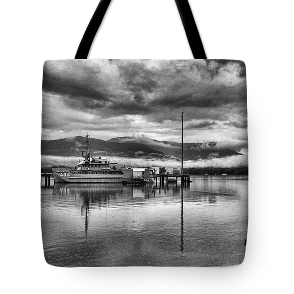 Navy Lookout Tote Bag by Douglas Barnard