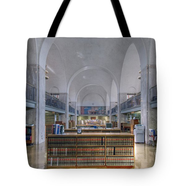 Nebraska State Capitol Library Tote Bag by Art Whitton