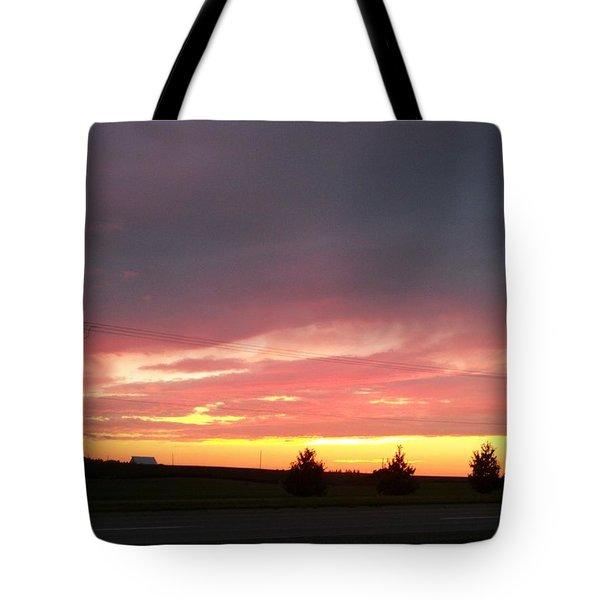 Nebraska Sunset Tote Bag by Adam Cornelison