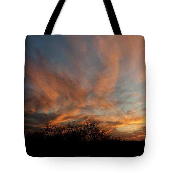 Nebraska Sunset Tote Bag by Art Whitton