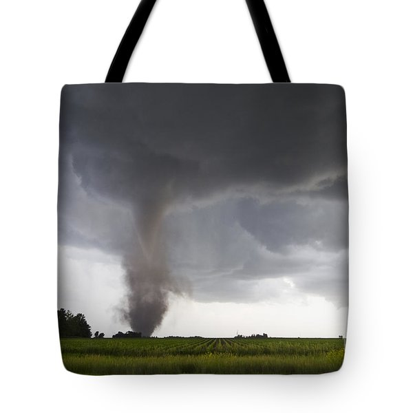 Nebraska Tornado Tote Bag by Mike Hollingshead and Photo Researchers