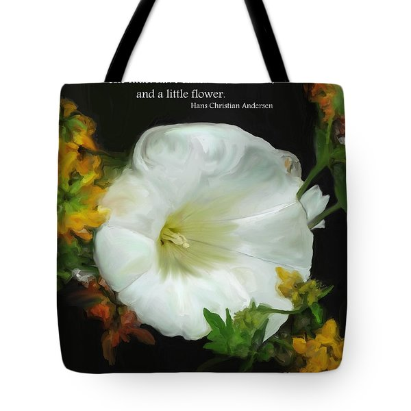 Need A Little Flower Tote Bag by Methune Hively