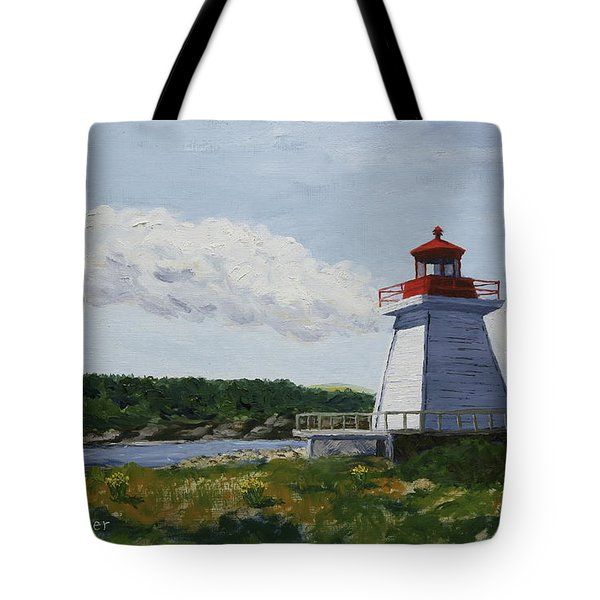Neil's Harbor Light Tote Bag