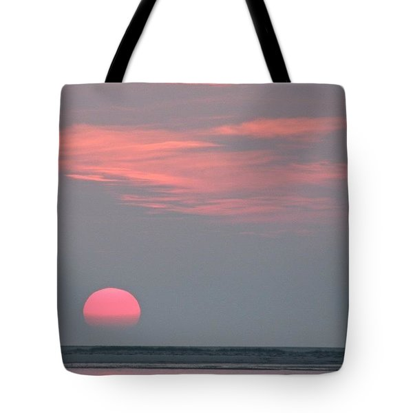 Neon Sunrise Tote Bag
