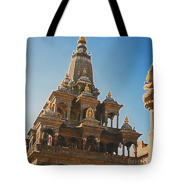 Nepal Temple 2 Tote Bag by First Star Art