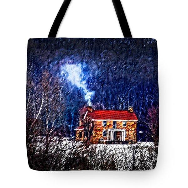 Nestled In For The Winter Tote Bag by Randall Branham