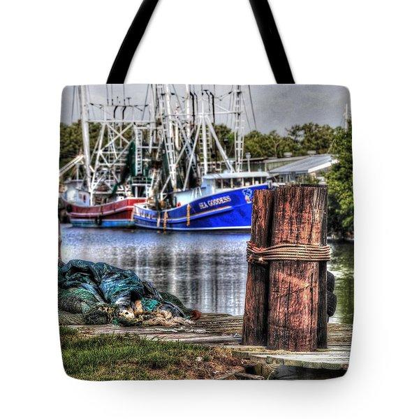 Nets And The Sea Goddess Tote Bag by Michael Thomas