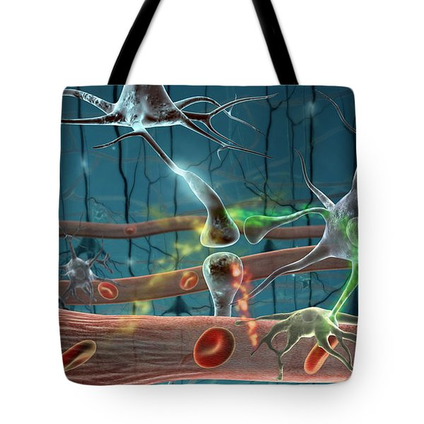 Neurons Tote Bag by Science Source